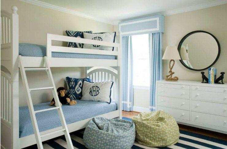 Комната для детей с двухуровневой кроватью