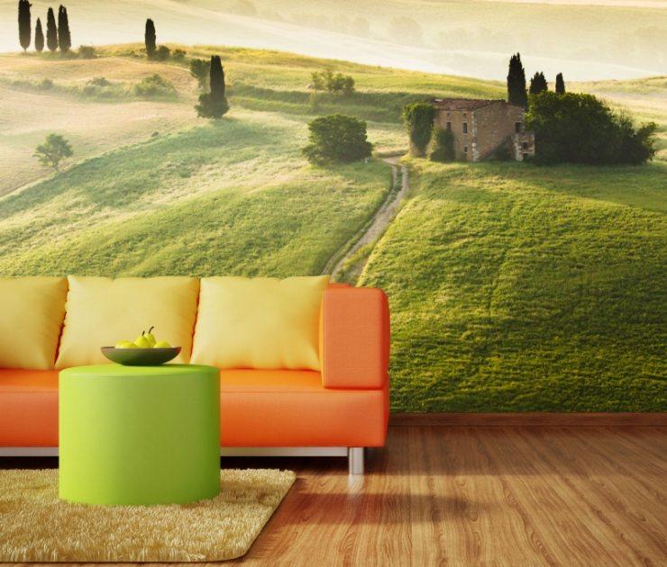 Дизайн гостиной в ярких тонах