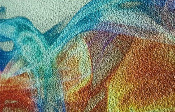 Фотообои с песчаной текстурой