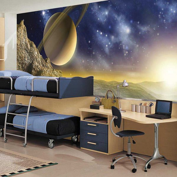 Репродукция космического пространства на фотообоях