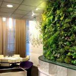Дизайн интерьера с вертикальным озеленением