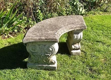Каменная скамейка для парков и садов