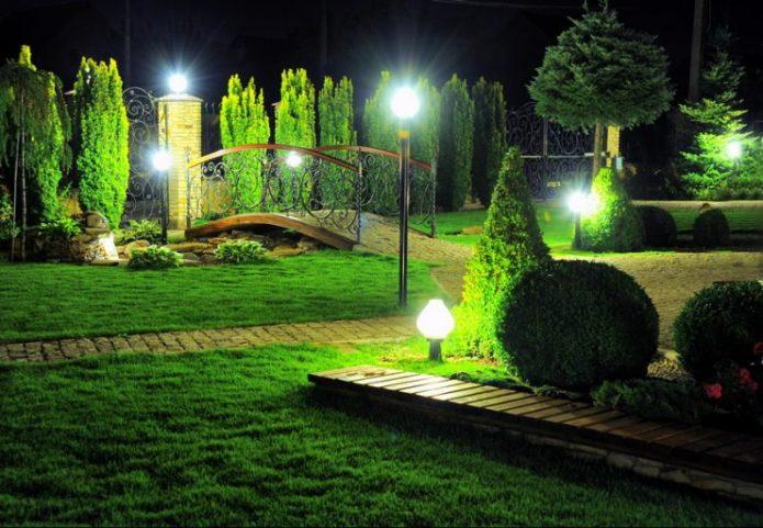 Освещение участка