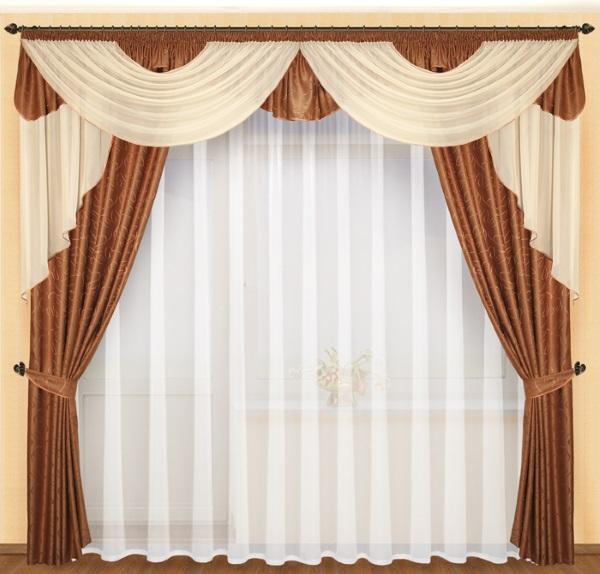 Декор окна мягким ламбрекеном