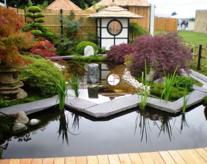 Ландшафтный дизайн участка в японском стиле