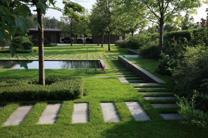 Ландшафтный дизайн участка в минималистическом стиле