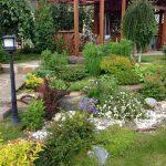 Современный дизайн сада с рокарием