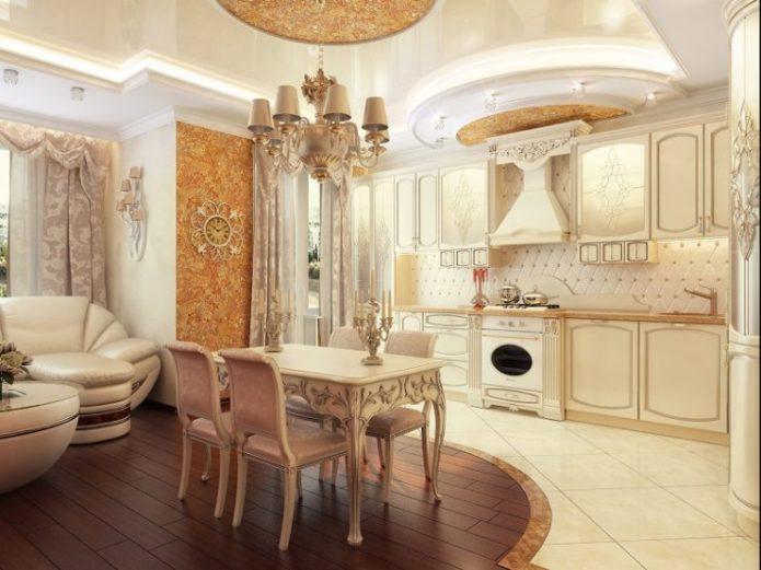 Классический стиль в интерьере квартиры-студии