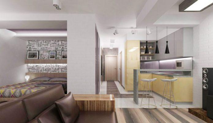 Квартира-студи в стиле хай-тек