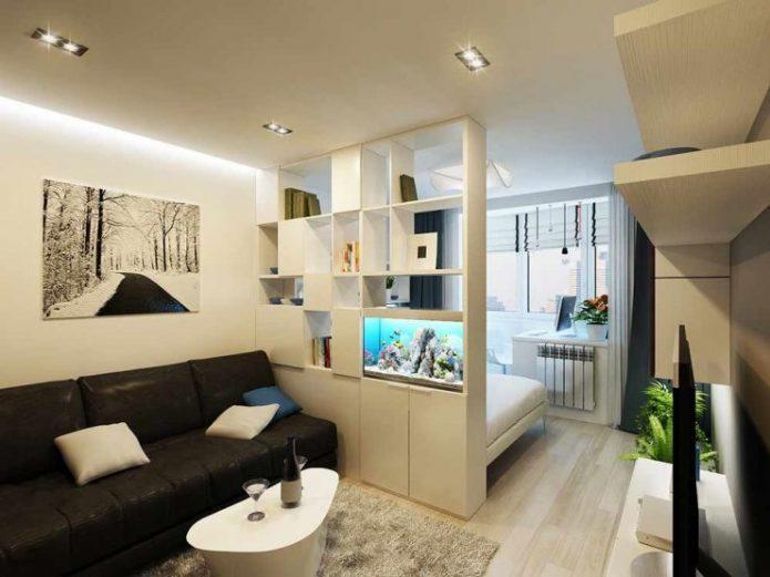 Зонирование пространства в квартире-студии
