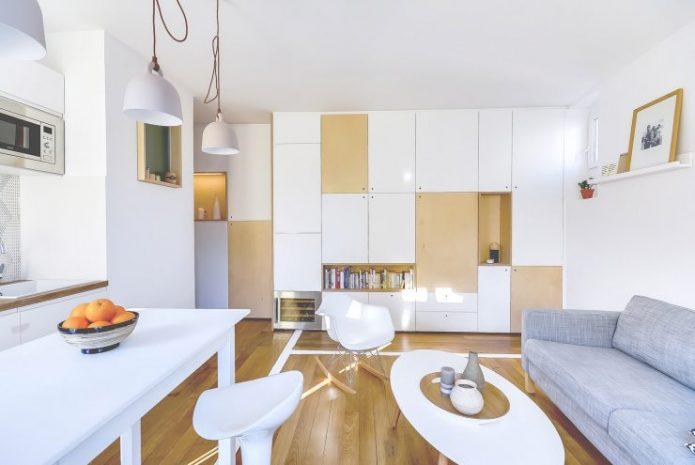 Корпусная мебель в интерьере квартиры-студии