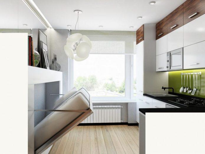 Раскладная кровать в квартире-студии