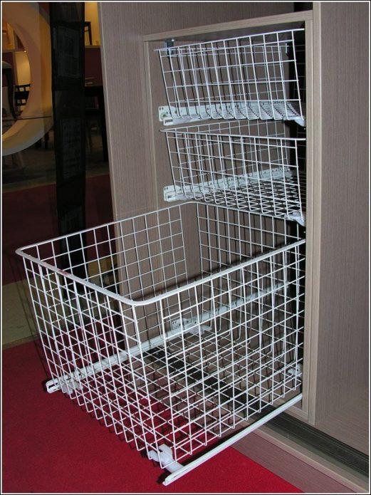 Корзины для хранения в шкафу-купе