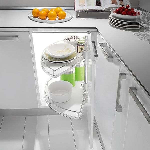 Полка-карусель для хранения на кухне
