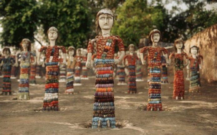 Сад камней Чандигарх в Индии