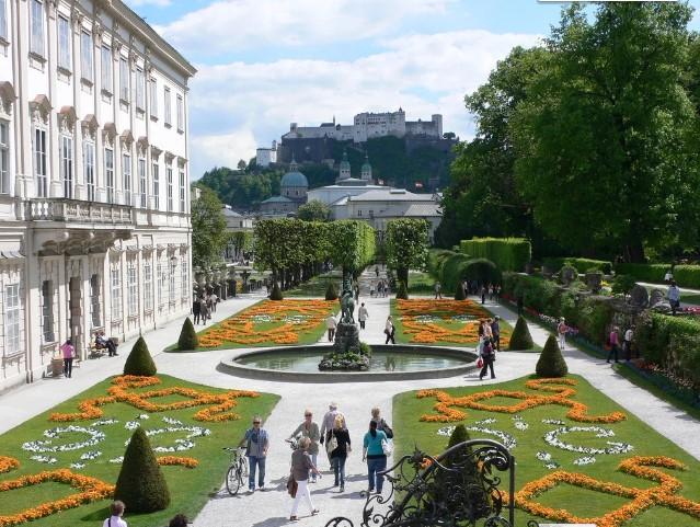 Австрийский сад Мирабель в Зальцбурге