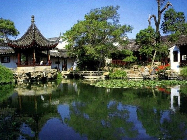 Сад Сучжоу в Китае