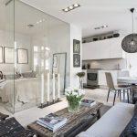 Современные решения зонирования в квартире-студии