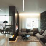 Сочетание стилей лофт и хай-тек в интерьере квартиры-студии