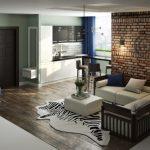 Современная квартира-студия в стиле лофт