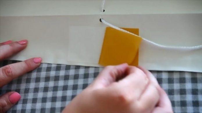 Закрепление шнура