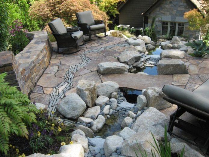 Патио из камня