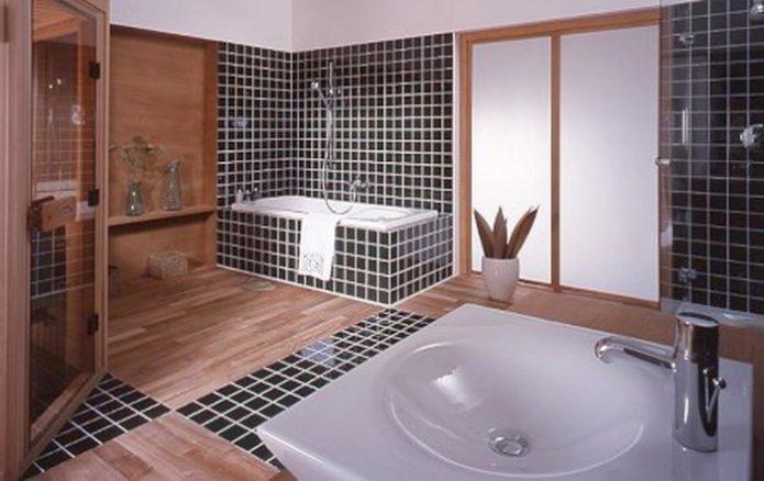 Облицовка стен в ванной ламинатом