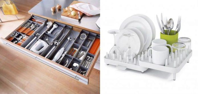 Органайзеры для посуды и кухонных принадлежностей из ИКЕА