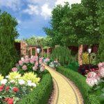 Цветы и кустарник