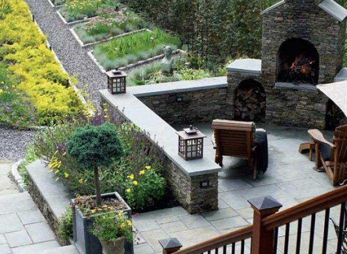 Патио на загородном участке