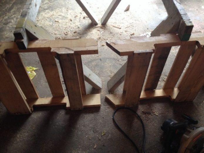 Распил деталей кресла