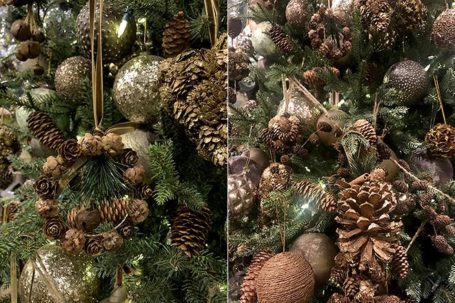 Декор из природных материалов для новогодней ёлки