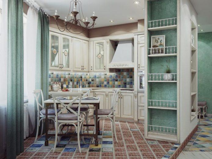 Интерьер небольшой кухни в стиле Прованс