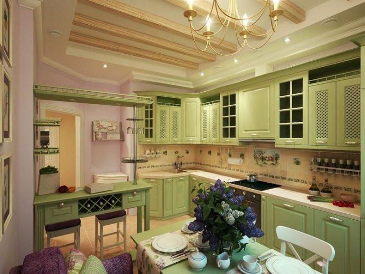 Дизайн кухни в стиле прованс —французская деревняв вашем доме