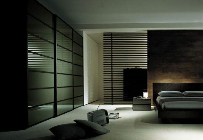Шкаф для спальни в стиле хай-тек