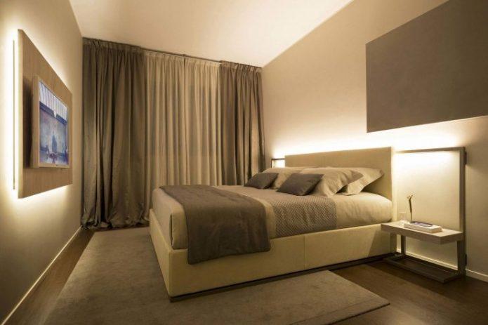 Шторы для спальни хай-тек