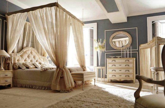 Спальня в стиле английская классика