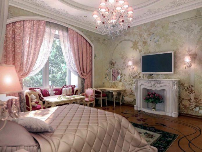Освещение для классической спальни