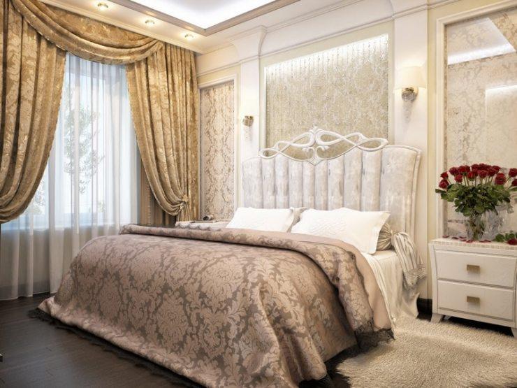 Дизайн спальни в классическом стиле: беспроигрышные цветовые сочетания с фото
