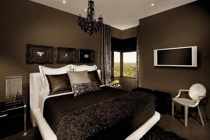 нячанге шоколадная спальня с белой мебелью фото удовольствием представляем вашему