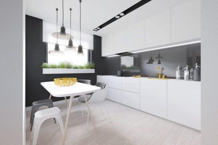 Современный манимализм в дизайне кухни