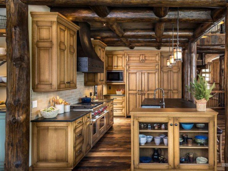 Дизайн кухни в стиле кантри: летнее настроение в любое время года