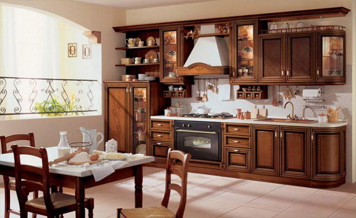 Кухня, выполненная в стиле современная классика