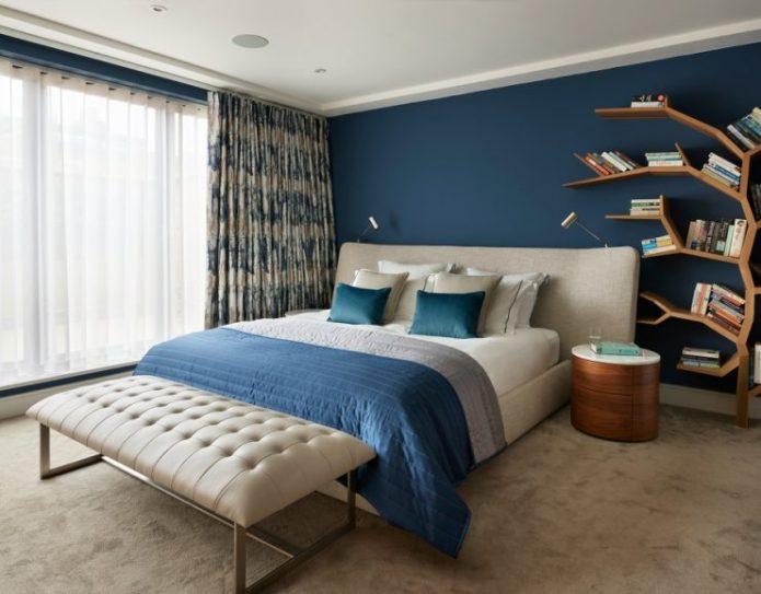 Зонирование спальной комнаты