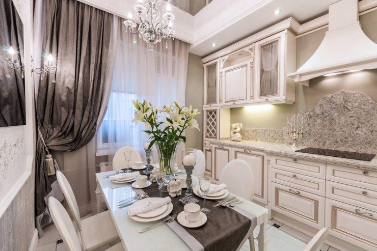 Дизайн кухни в стиле современная классика: фото стильных проектов