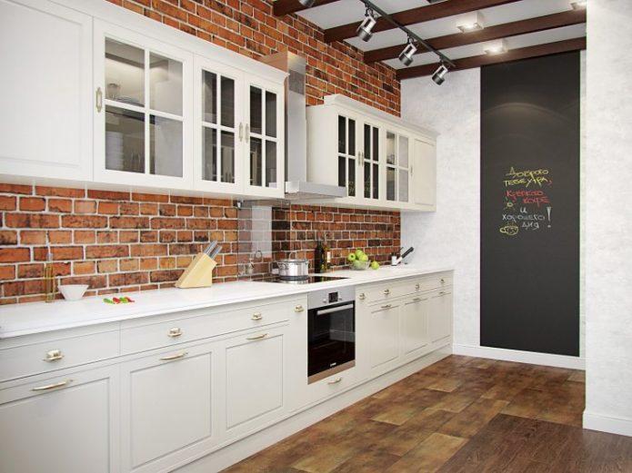 Неоклассический лофт на кухне