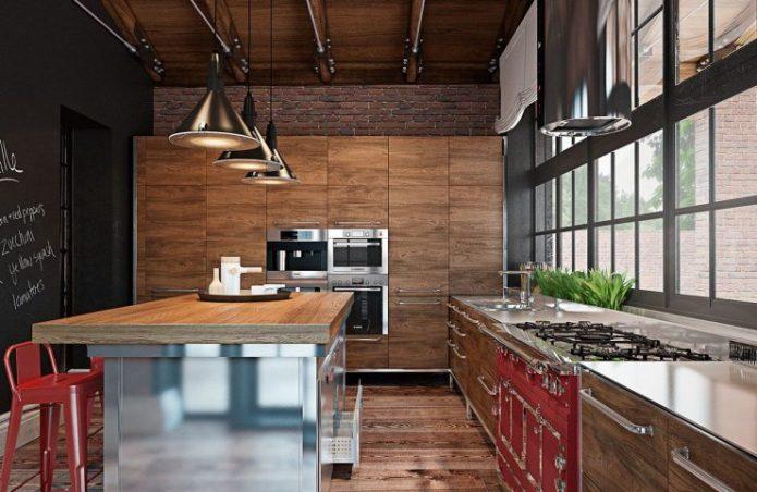 Кухня с окном во всю стену