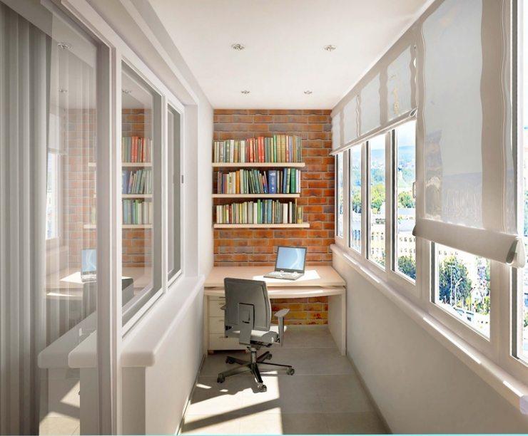 Кабинет на балконе: 23 стильных идеи дизайна рабочего места