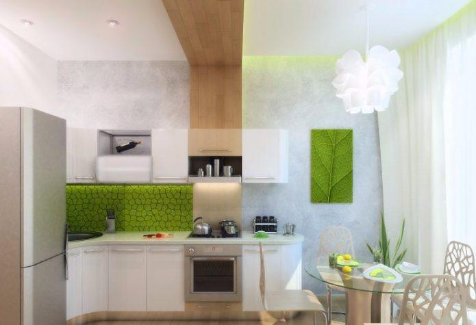Кухня в стиле эко-минимализм